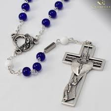 free rosaries fatima 100th anniversary rosary antique silver plated blue and