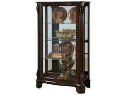Antique Curio Cabinet With Clock Pulaski Furniture Curios Side Entry Mantel Curio Baer U0027s