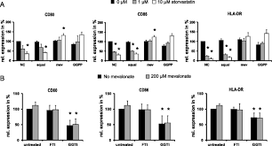 inhibition of protein geranylgeranylation specifically interferes