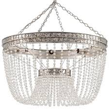 bead chandelier garbo regency antique silver leaf bead