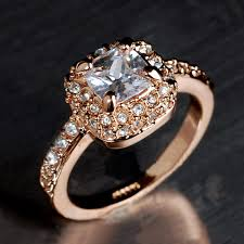 rose zircon rings images Ustar square austria crystals wedding rings for women anel rose jpg