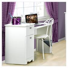 White Bedroom With Purple Accents Wonderful Girls White Desks Photo Ideas Surripui Net
