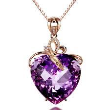 fashion design necklace images 2018 fashion heart shaped design amethyst pendant 18k gold jpg