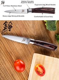 amazon com zaang paring knife 3 5 inch high carbon stainless