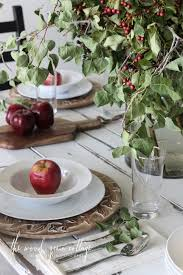 Fall Table Settings by Fall Table Setting The Wood Grain Cottage