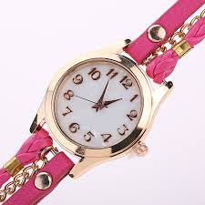 ladies leather bracelet watches images Womens fashion leather retro bracelet watch 100 magic deals jpg