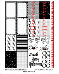 Free Printable Halloween Cutouts by Free Halloween Planner Sticker Printable Falling Glitter