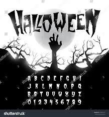 halloween font letters numbers stock vector 479625151 shutterstock