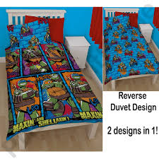 Ninja Turtle Bedroom Furniture by Teenage Mutant Ninja Turtles Duvet Covers U2013 Single Bedding Sets
