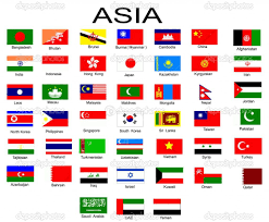 Flag Of The World Individual Flags Of Asia With Names Google Search Countries Of