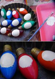 craft booth 555 diy recycled christmas light bulbs into snowmen