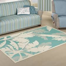 Teal Outdoor Rug Koa Teal Tropical Palm Tree Indoor Outdoor Rugs
