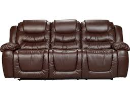 The Brick Leather Sofa Maddux Bonded Leather Reclining Sofa Brown Set
