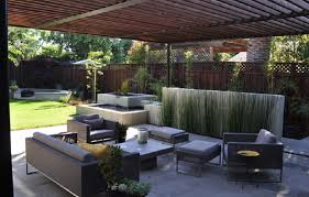 modern patio modern patio concrete with redwood and steel arbor concrete patio
