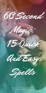 how do you spell travelling images 60 second magic 15 quick and easy spells the traveling witch