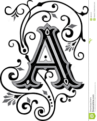 beautiful ornament letter a stock image image 38519211