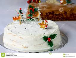 white christmas cake stock photo image 48155725