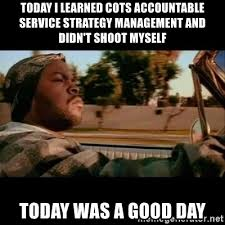 Shoot Myself Meme - today i learned cots accountable service strategy management and