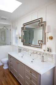 double trough sinks for bathrooms bathroom transitional with wall