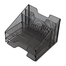 Desk Tray Organizer by Vanra Metal Mesh Desktop File Sorter Organizer Desk Tray Organize