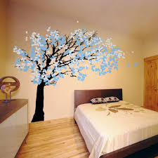 wall decal wall sticker tree decal cherry blossom tree kk117m cherry blossom tree blowing in the wind wall decal sticker graphic