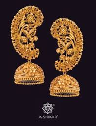 kaan earrings kaan jhumkas indian calcutti jewellery
