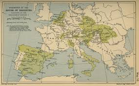 Roman Map Historical Maps Of The Holy Roman Empire