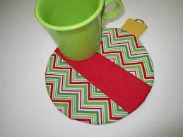 christmas ornament mug rug