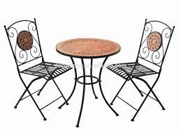 Blue Mosaic Bistro Table by Garden Furniture Mosaic Interior Design