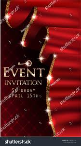 Curtains With Red Vip Event Invitation Card Red Curtains Stock Vector 618331154