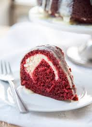 cream cheese stuffed red velvet bundt cake lmldfood