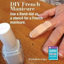 tip of the day diy french manicure tip of the day who knew