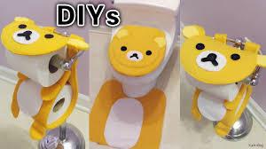 3 cute bathroom diys diy rilakkuma toilet seat cover u0026rug diy