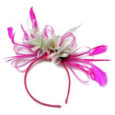 pink headband fuchsia hot pink and fascinator on headband weddings ascot