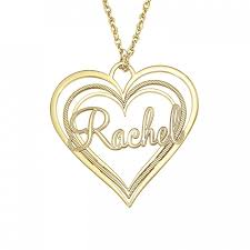 personalized name pendant heart name pendant 30x32mm personalized jewelry