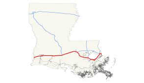 Louisiana Rivers Map Interstate 10 In Louisiana Wikipedia