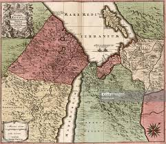 Map Of The Mediterranean Map Of Egypt Syria And Arabia Pictures Getty Images
