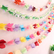 colorful paper garland s day birthday banner