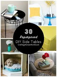 Accent Table Decor 30 Diy Side Table Ideas Reduce Reuse Redecorate
