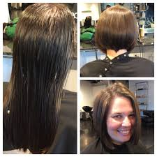 one length bob haircut before and after haircut short women u0027s