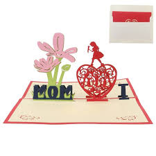 3d greeting cards i love mom mother u0027s day handmade pop up heart