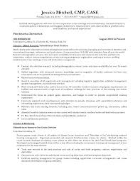 Resume Template Hospitality Industry Event Resume Sample