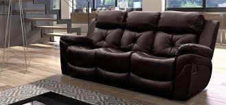 3 seater recliner sofa enfield benton brown 3 seater recliner sofa red furniture