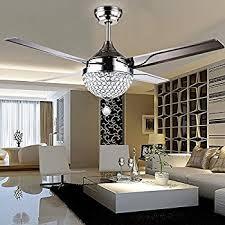 living room ceiling fan tropicalfan crystal modern ceiling fan remote control home