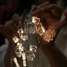 christmas garland battery operated led lights 50 led fairy transparent horse battery operated string lights 5m led