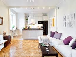 popular paint colors for a small kitchen and living room combined