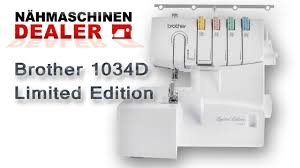 brother 1034d overlock deutsch youtube