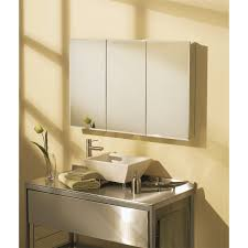 triple mirror bathroom cabinet maax 126533 801 element 48 x 31 x 5 tri view triple door medicine
