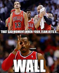 Chicago Bulls Memes - nba memes on twitter the chicago bulls have hit a wall down 0 2