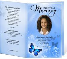 funeral programs template funeral printable single fold program templates